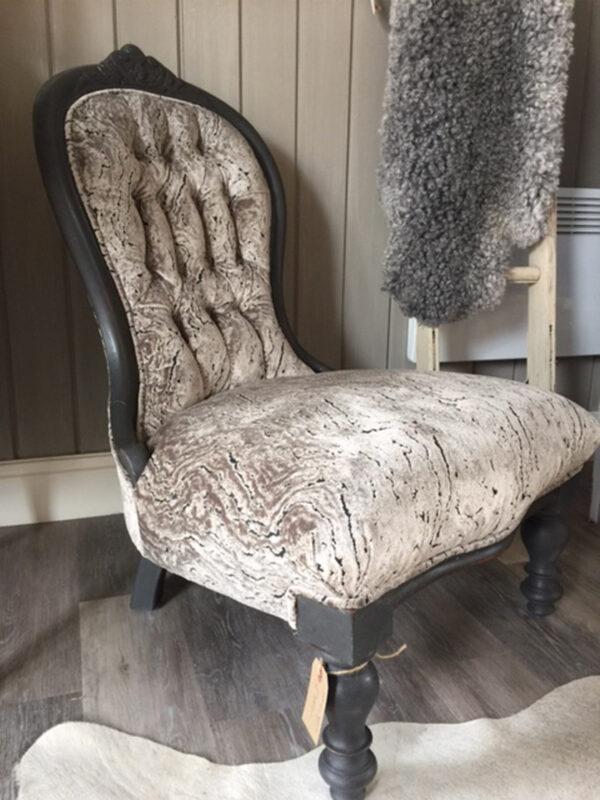 Grey Spoon Back Chair
